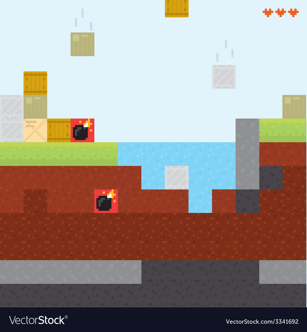 Box game level vector | Price: 1 Credit (USD $1)