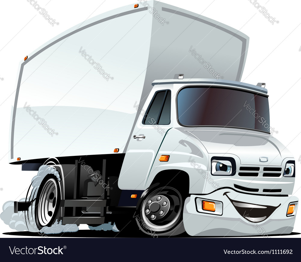 Cartoon cargo truck vector   Price: 3 Credit (USD $3)