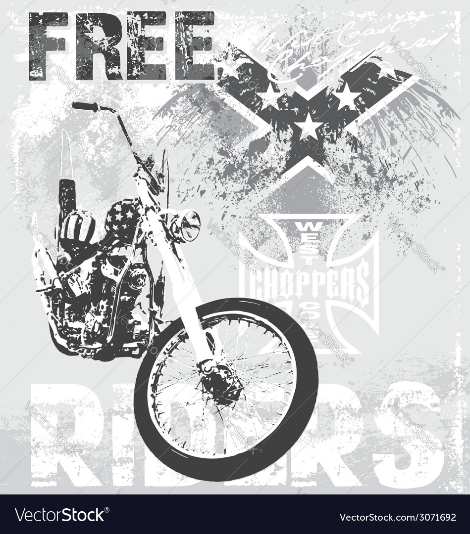 Choppers riders vector | Price: 1 Credit (USD $1)