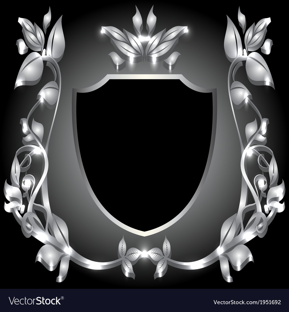 Coat of arms silver monogram vector | Price: 1 Credit (USD $1)