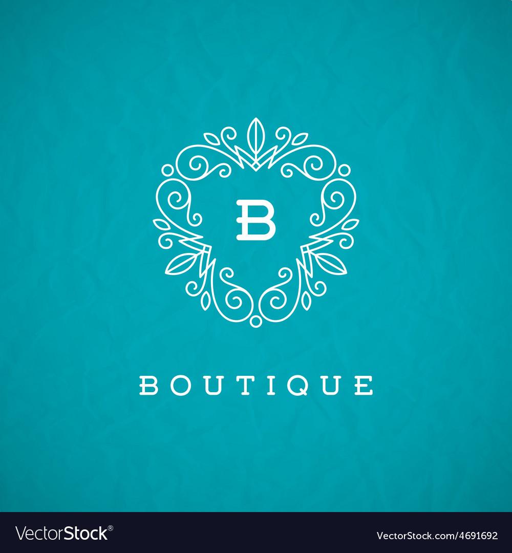 Monogram flourishes logo vector | Price: 1 Credit (USD $1)