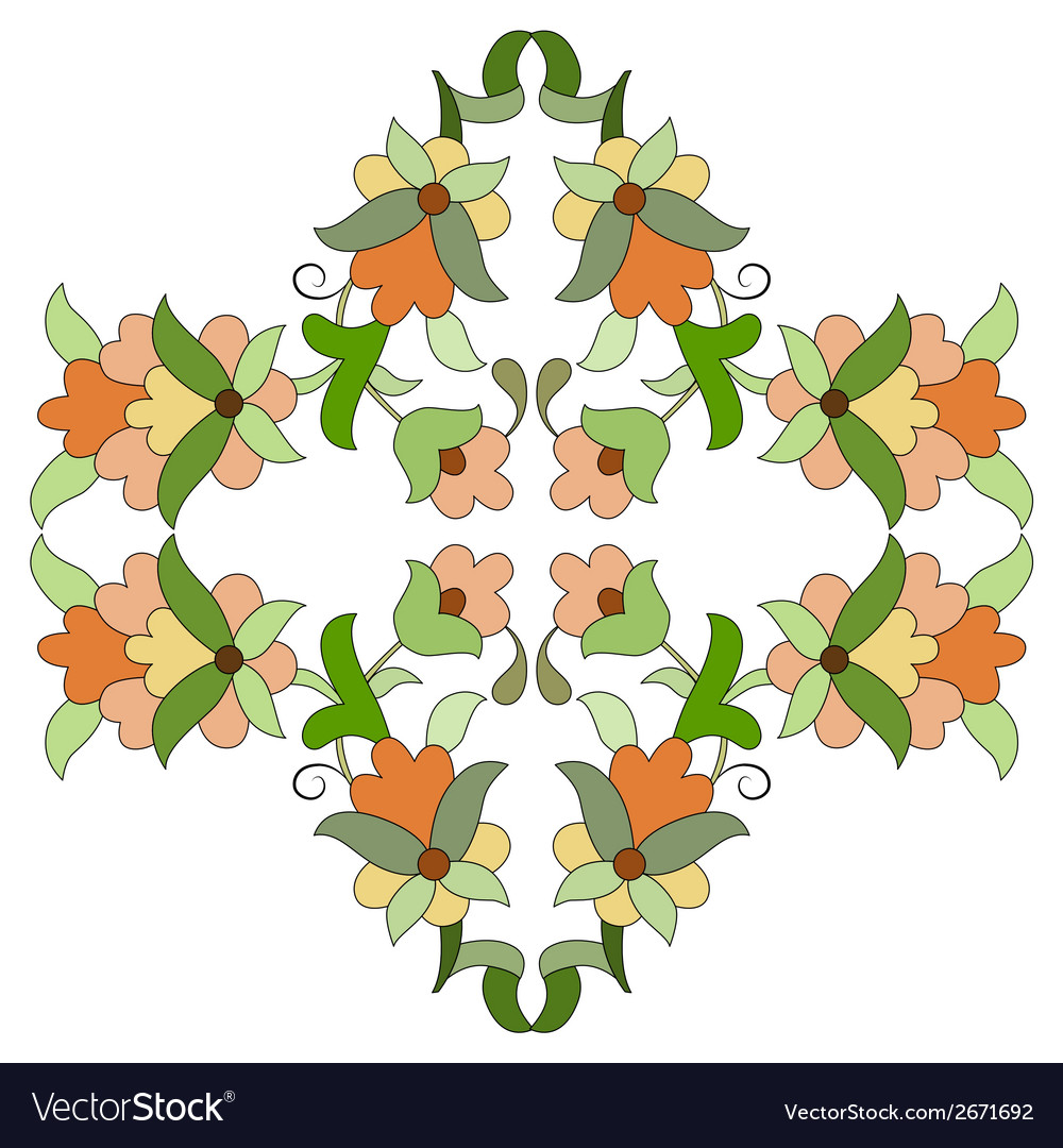 Ottoman motifs design series eighty seven vector | Price: 1 Credit (USD $1)