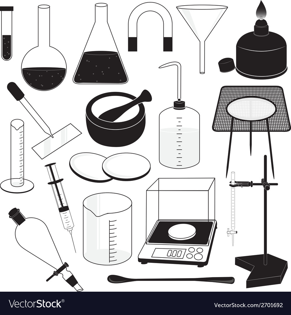 Science laboratory equipment vector | Price: 1 Credit (USD $1)