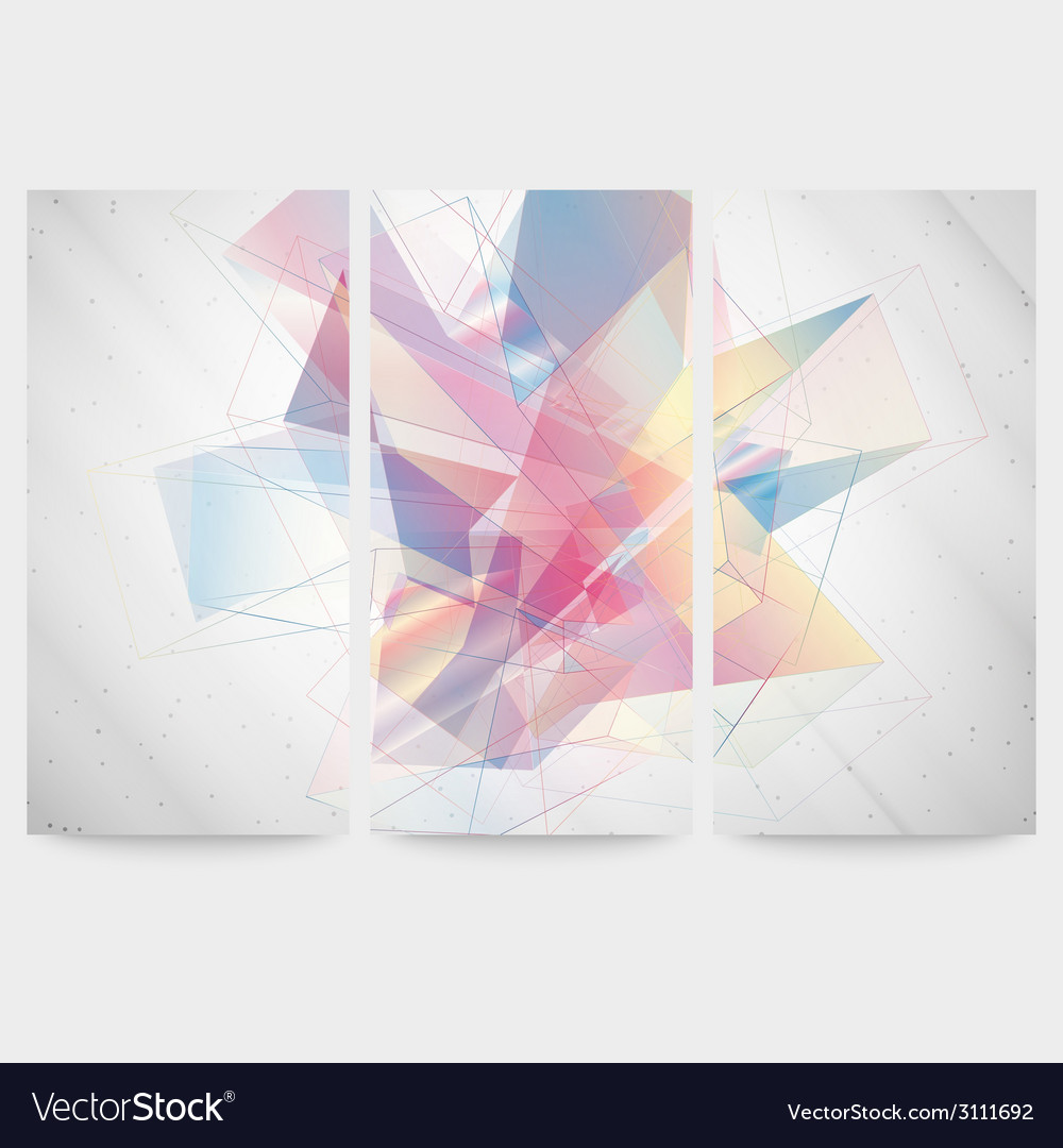 Set of abstract colored backgrounds triangle vector | Price: 1 Credit (USD $1)