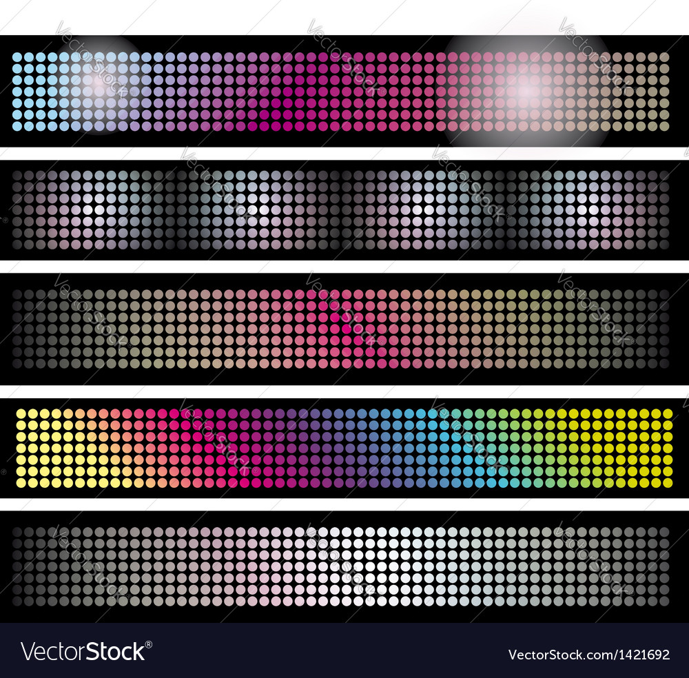 Set of led lights background banners vector | Price: 1 Credit (USD $1)