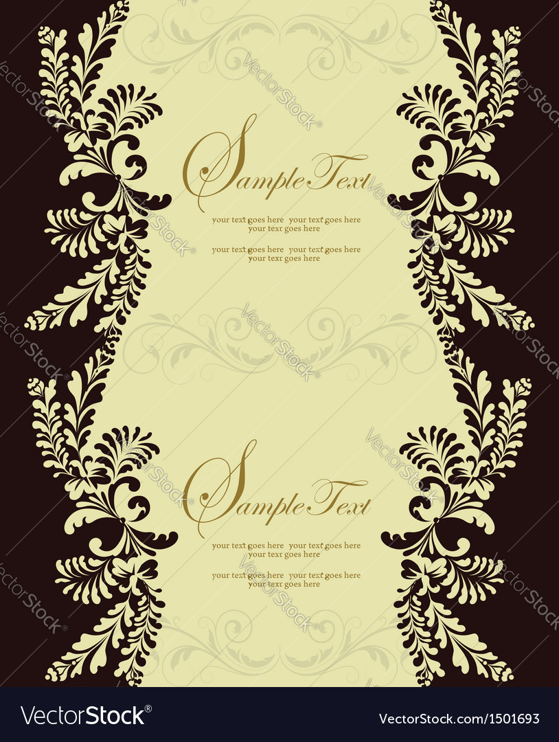 Brown damask card vector | Price: 1 Credit (USD $1)
