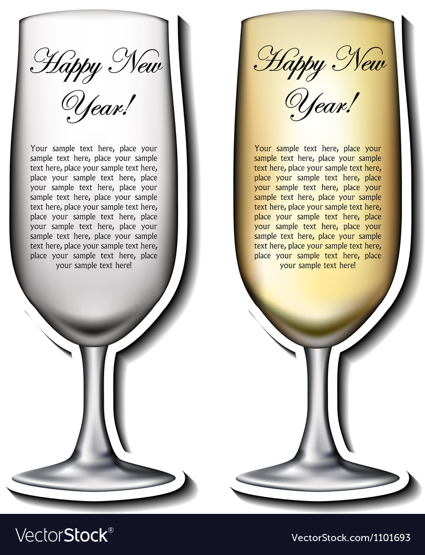 Champagne glass shaped card vector | Price: 1 Credit (USD $1)