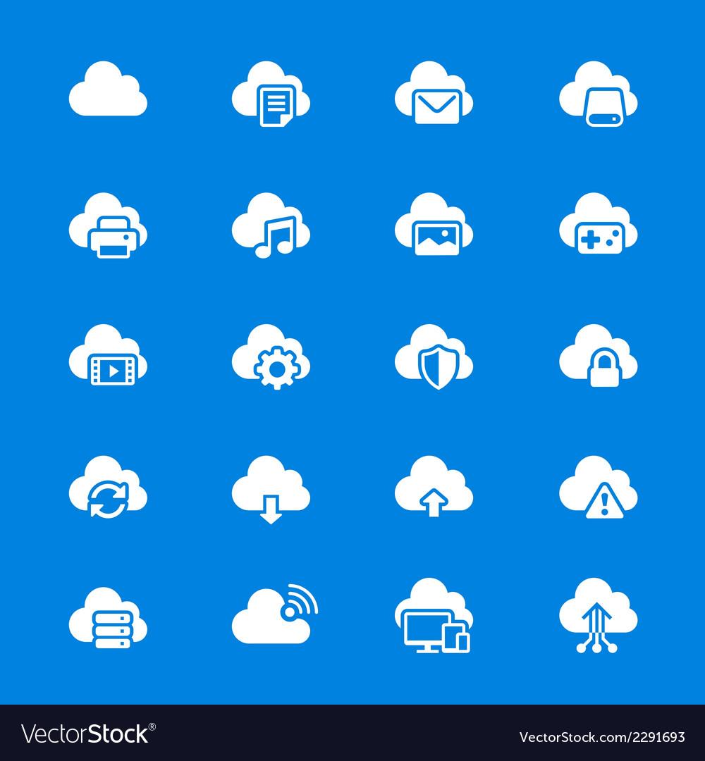 Cloud computing flat icons vector   Price: 1 Credit (USD $1)