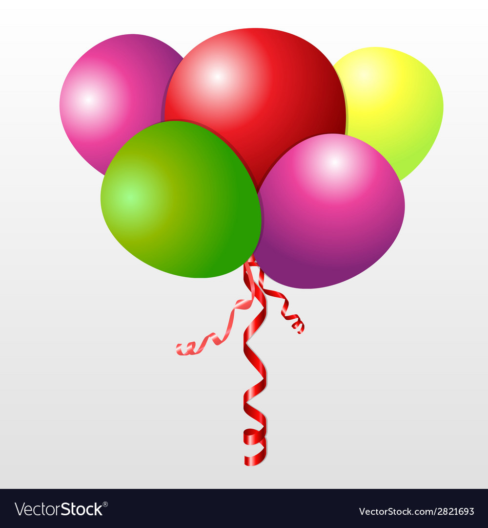 Color set balloons vector | Price: 1 Credit (USD $1)