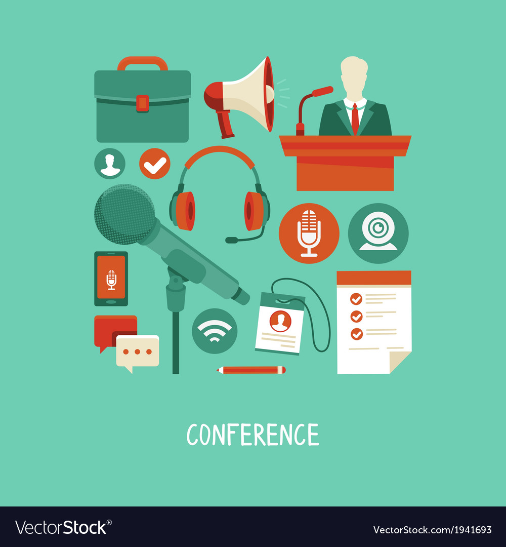 Conference concept vector   Price: 1 Credit (USD $1)