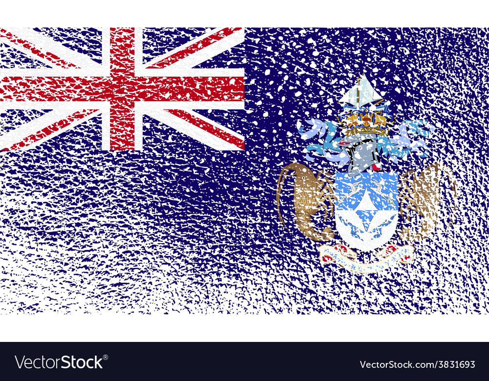 Flag of tristan da cunha with old texture vector | Price: 1 Credit (USD $1)
