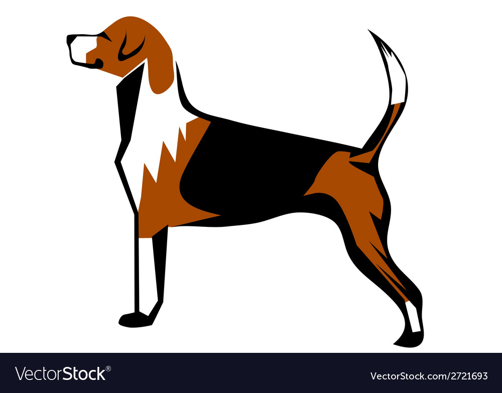 Fox hound vector | Price: 1 Credit (USD $1)