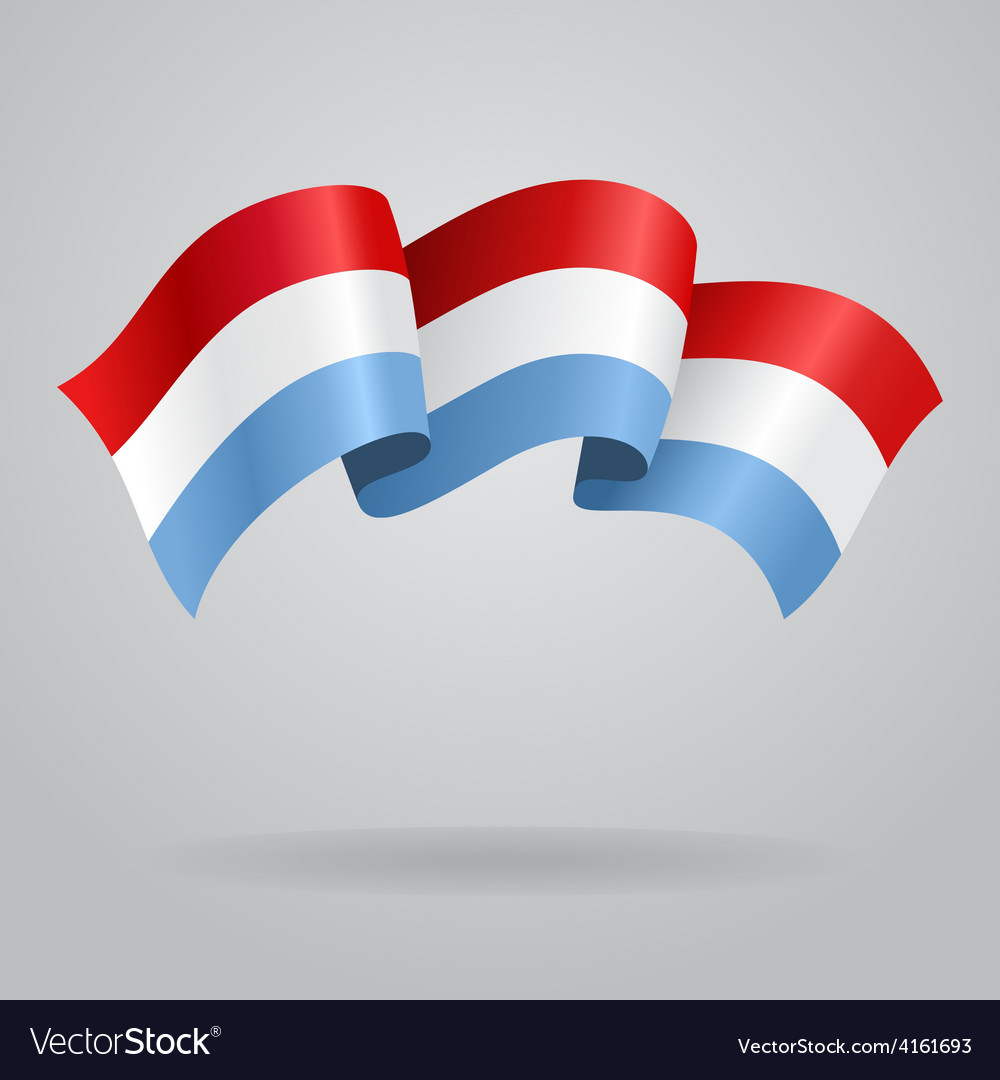 Luxembourg waving flag vector | Price: 3 Credit (USD $3)