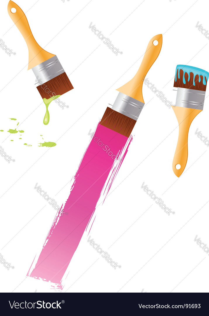 Multicolored paintbrushes vector | Price: 1 Credit (USD $1)