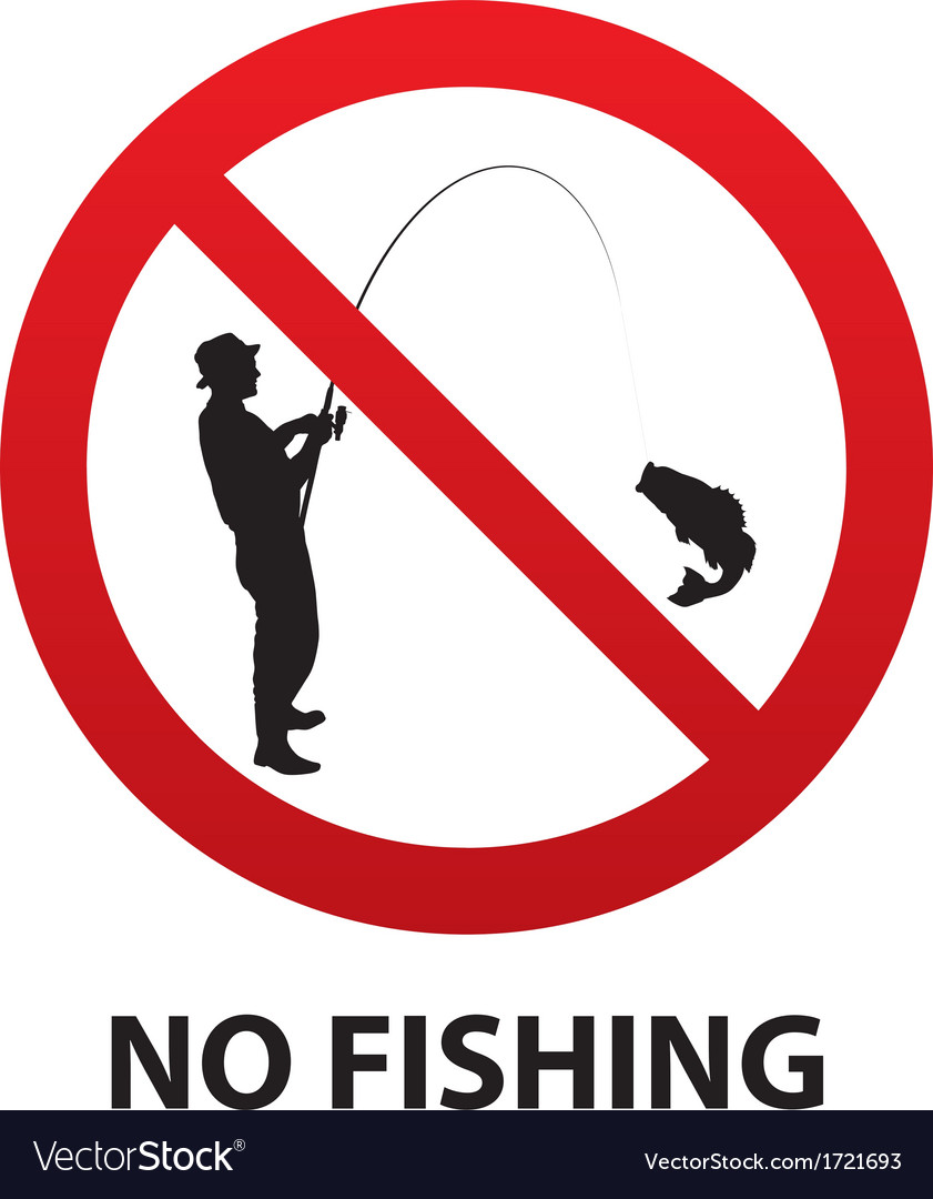 No fishing sign vector | Price: 1 Credit (USD $1)