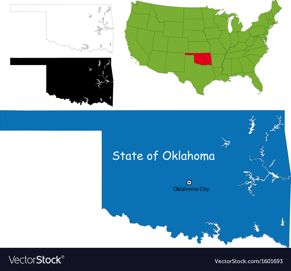 Oklahoma map vector | Price: 1 Credit (USD $1)