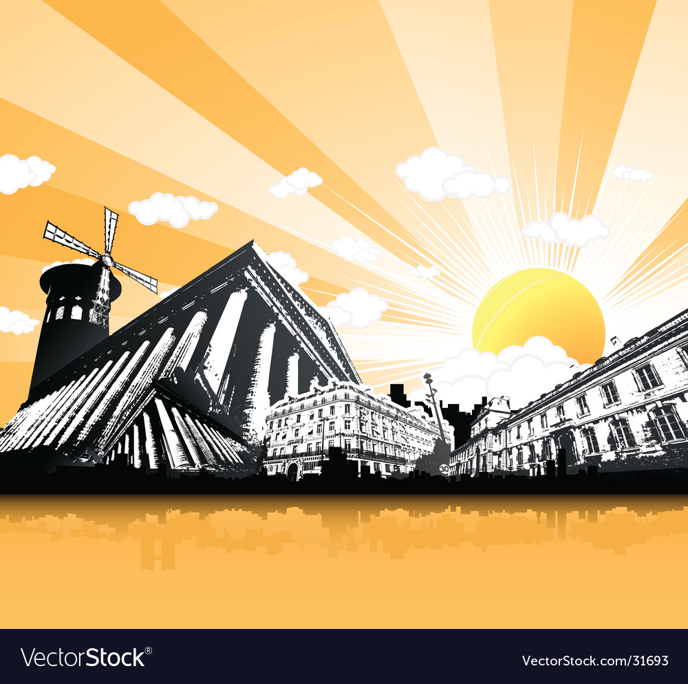 Paris monuments vector | Price: 1 Credit (USD $1)