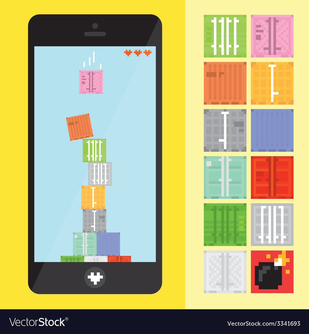 Stack game level vector | Price: 1 Credit (USD $1)