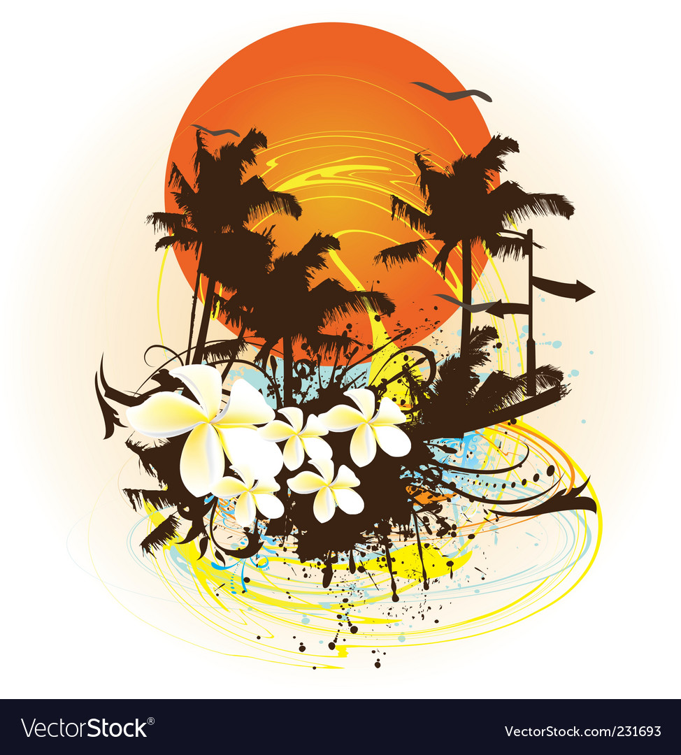 Summer print vector | Price: 1 Credit (USD $1)