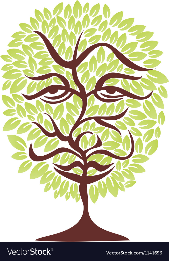 Tree face vector | Price: 1 Credit (USD $1)