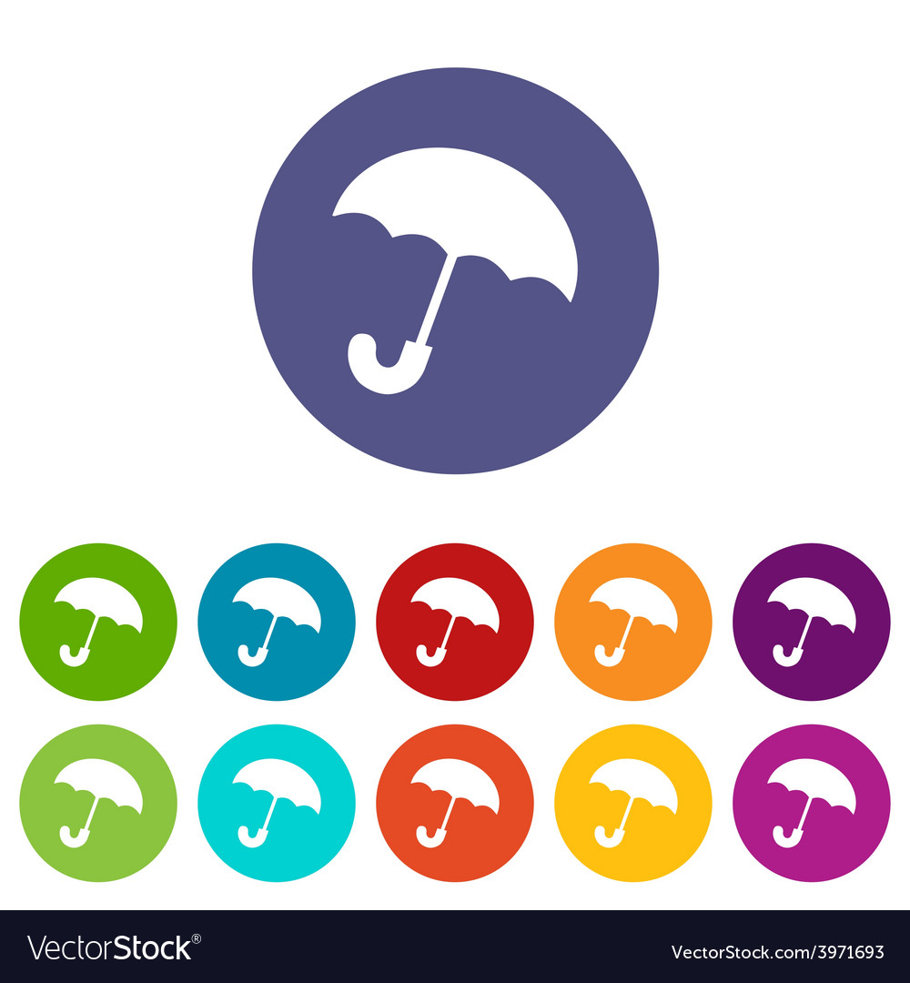 Umbrella flat icon vector | Price: 1 Credit (USD $1)
