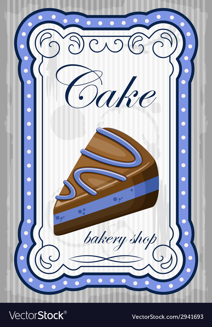 Vintage cake poster vector | Price: 1 Credit (USD $1)