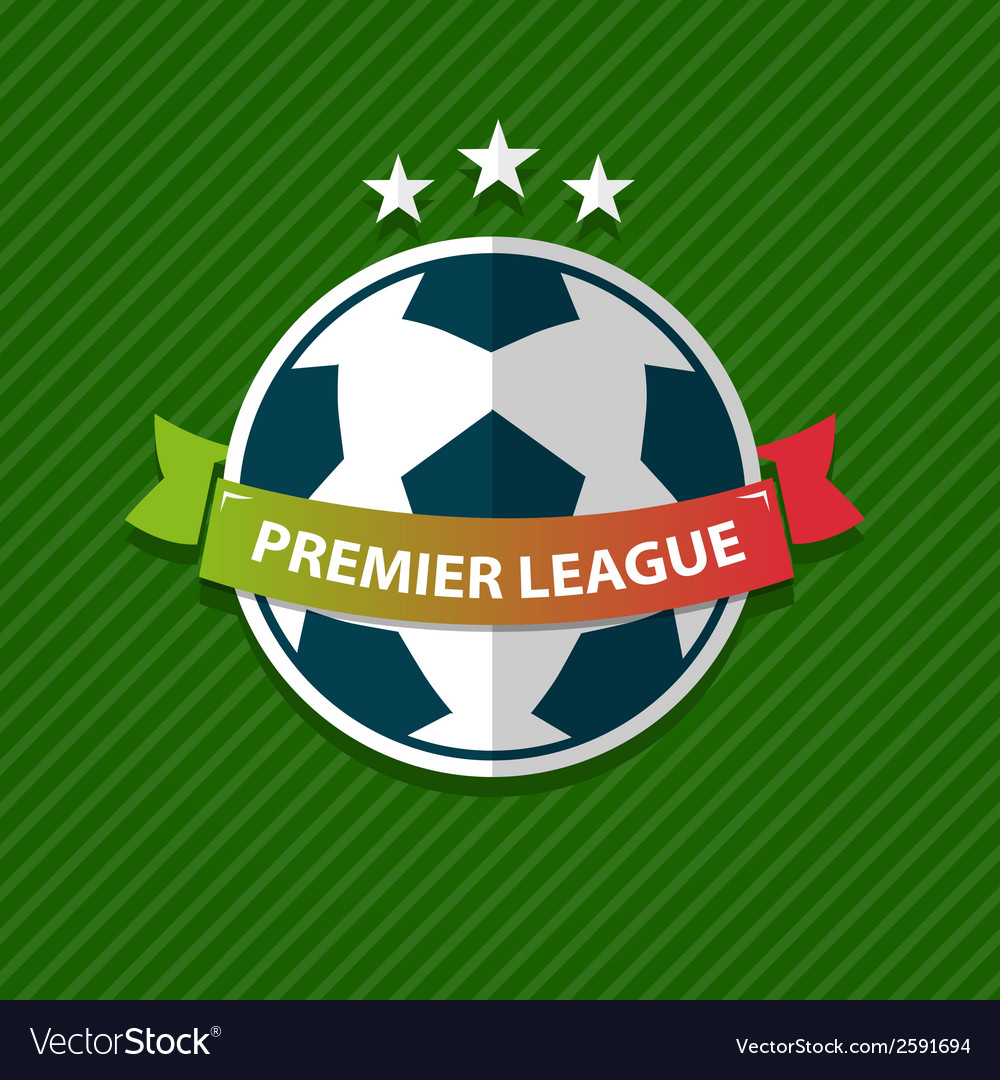 Badge and ribbon football design element vector | Price: 1 Credit (USD $1)