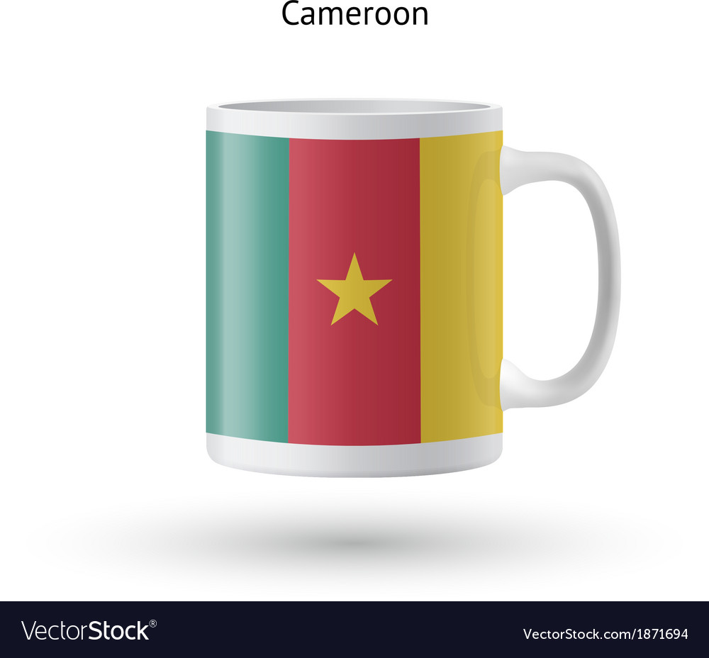 Cameroon flag souvenir mug on white background vector   Price: 1 Credit (USD $1)