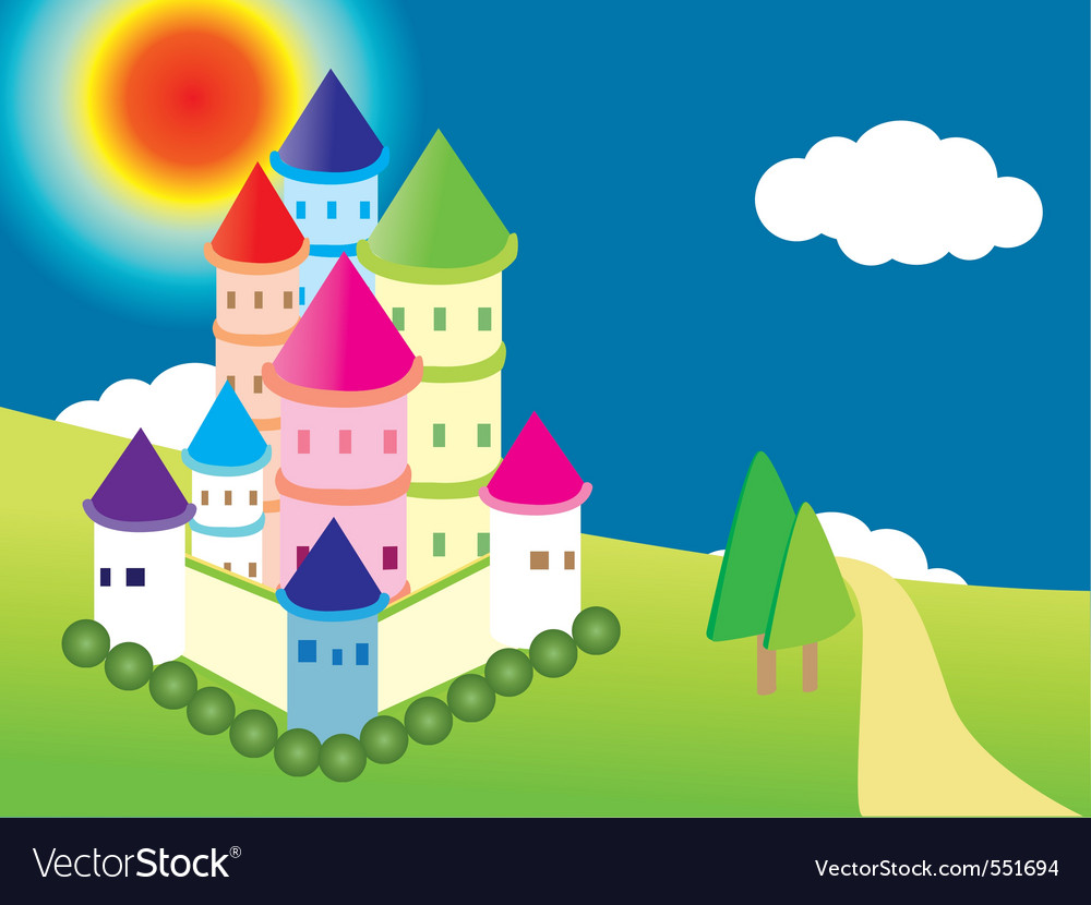 Cartoon castle vector | Price: 1 Credit (USD $1)