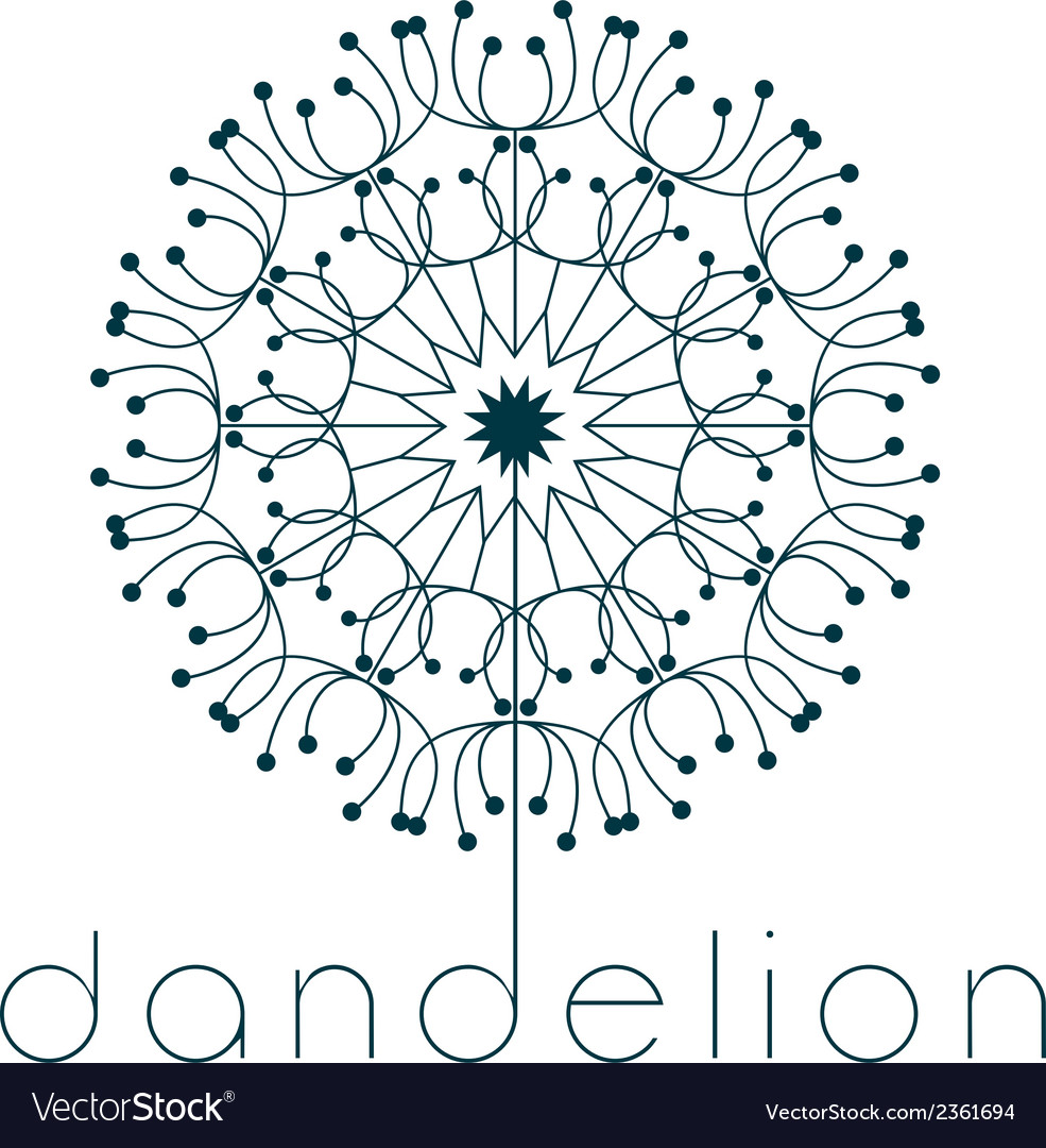 Dandelion symbol vector | Price: 1 Credit (USD $1)