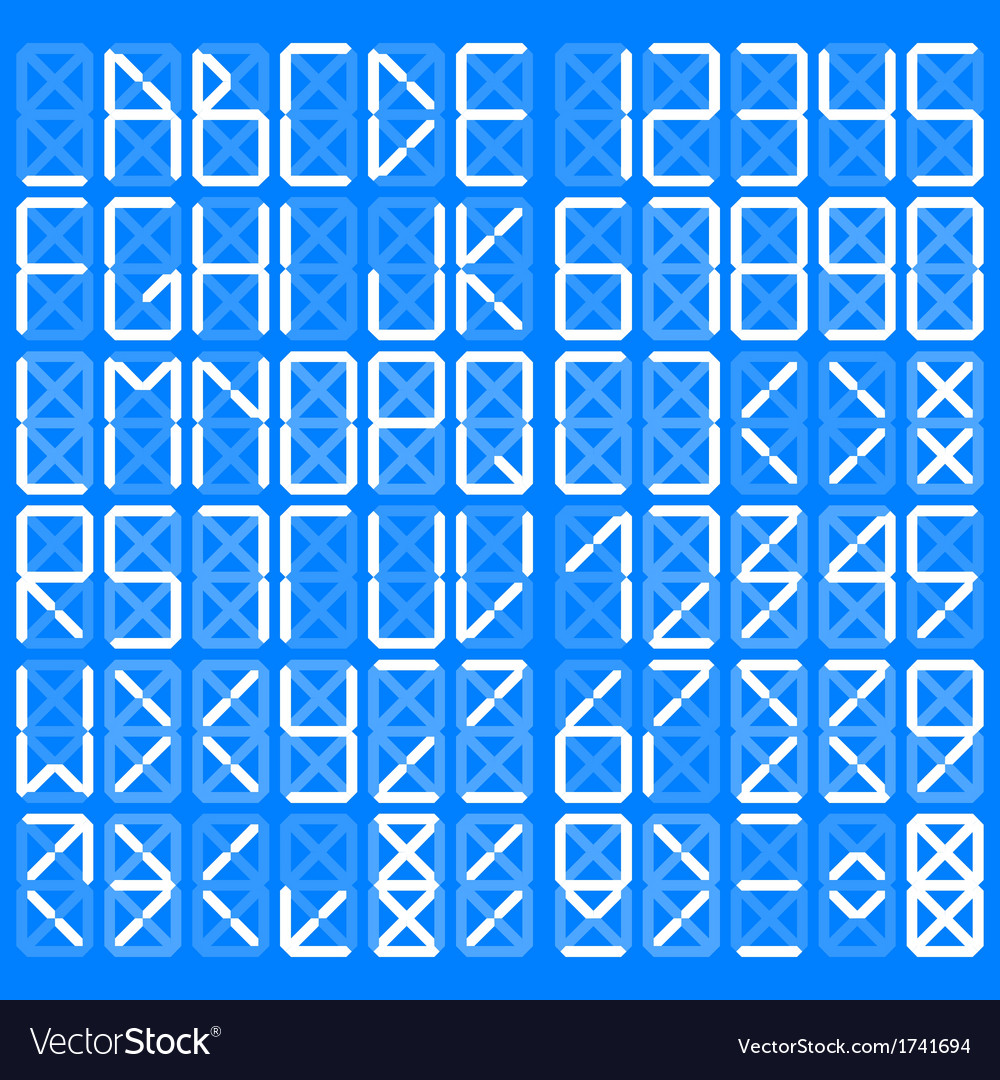 Digital alphabet vector | Price: 1 Credit (USD $1)