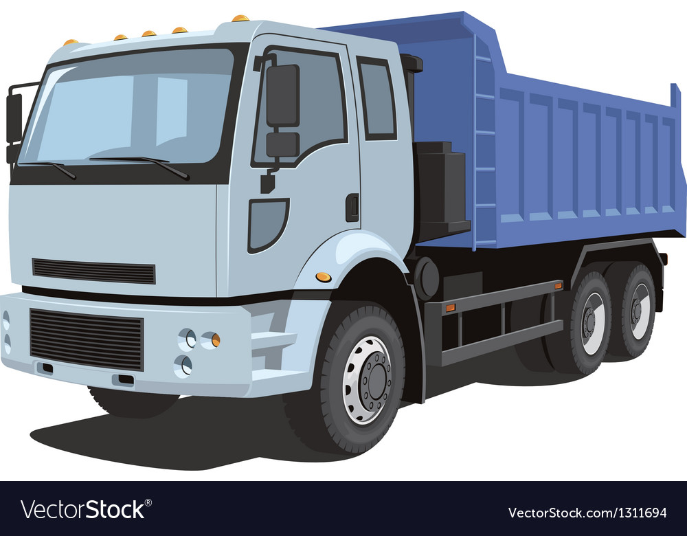 Dump truck vector | Price: 5 Credit (USD $5)