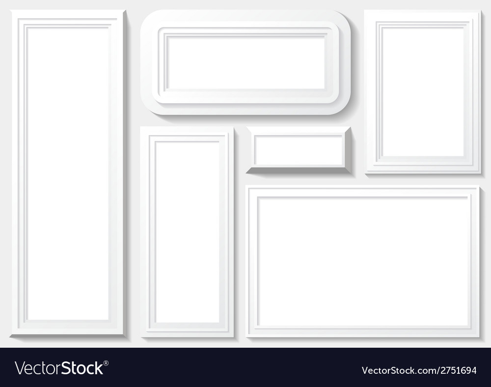 Frame with white background vector | Price: 1 Credit (USD $1)