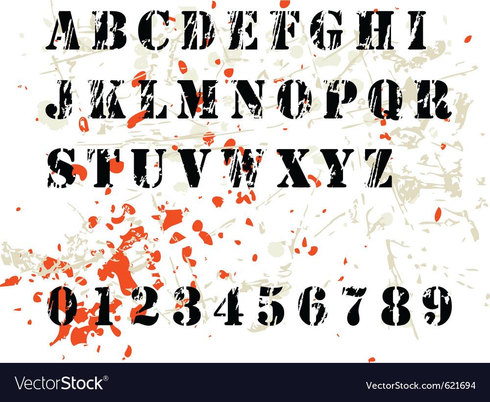 Grunge alphabet vector | Price: 1 Credit (USD $1)