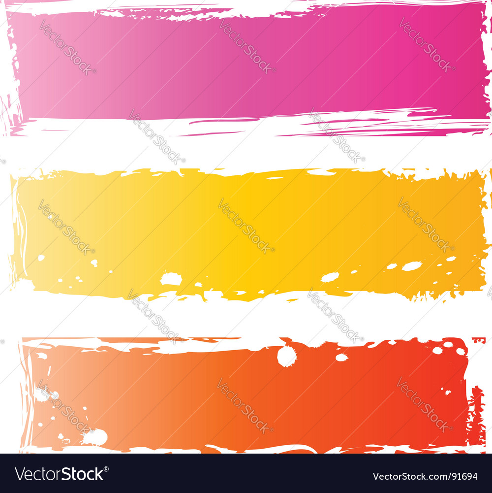Grunge banners multicolored vector | Price: 1 Credit (USD $1)