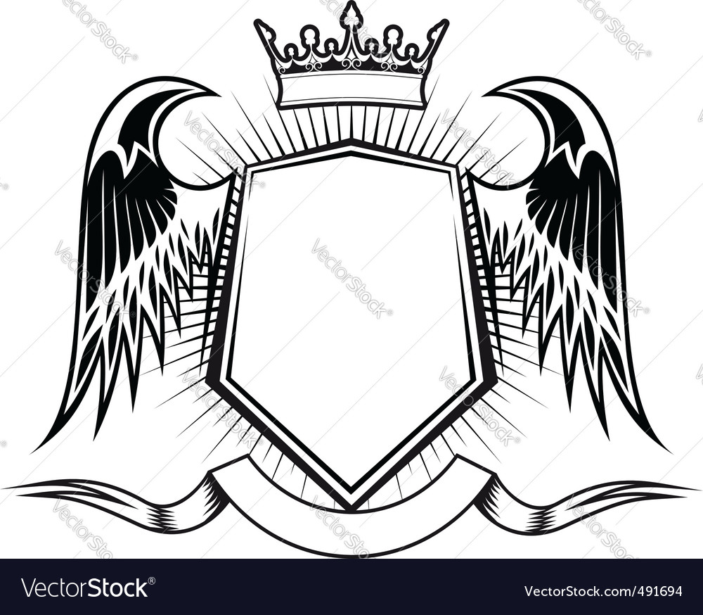 Heraldry design vector | Price: 1 Credit (USD $1)
