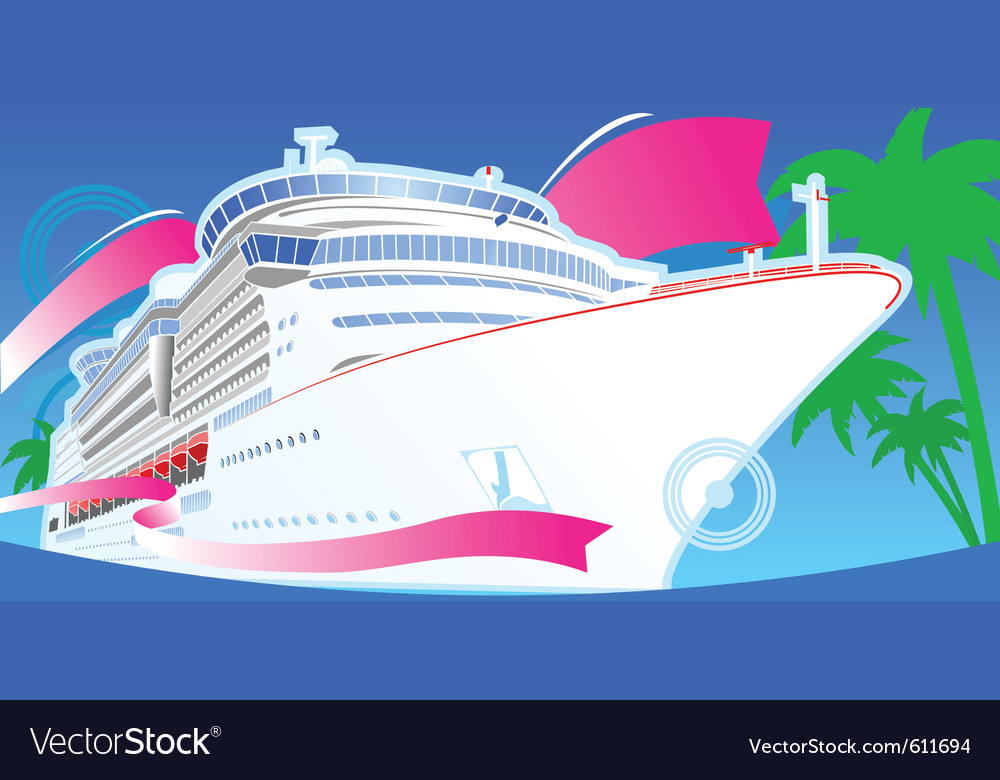 Luxury cruise vector | Price: 3 Credit (USD $3)