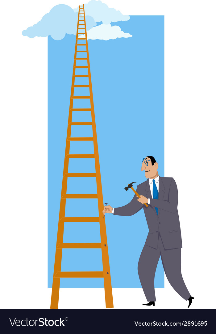 Building a ladder of success vector | Price: 1 Credit (USD $1)