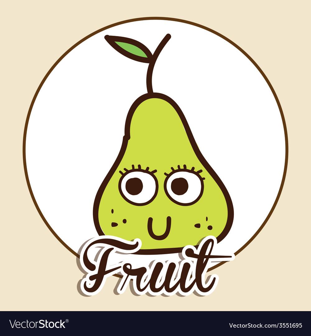 Fruit cute design vector | Price: 1 Credit (USD $1)