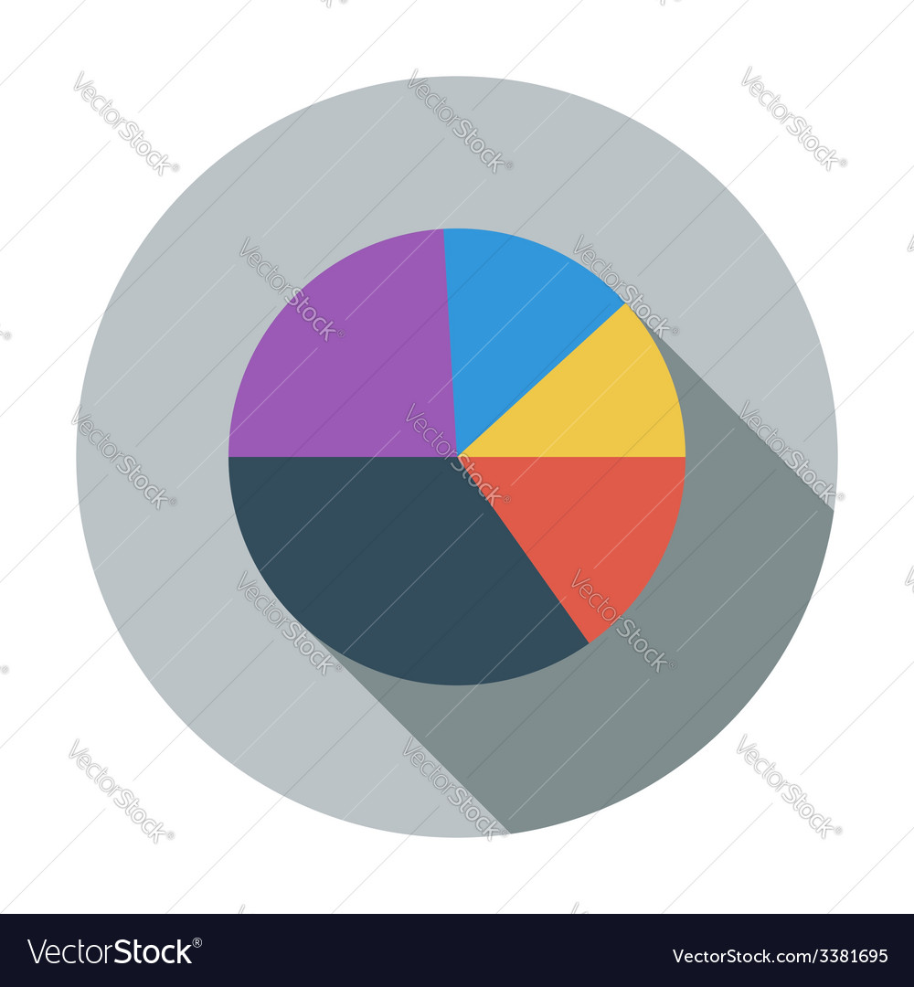 Graph single flat icon vector | Price: 1 Credit (USD $1)