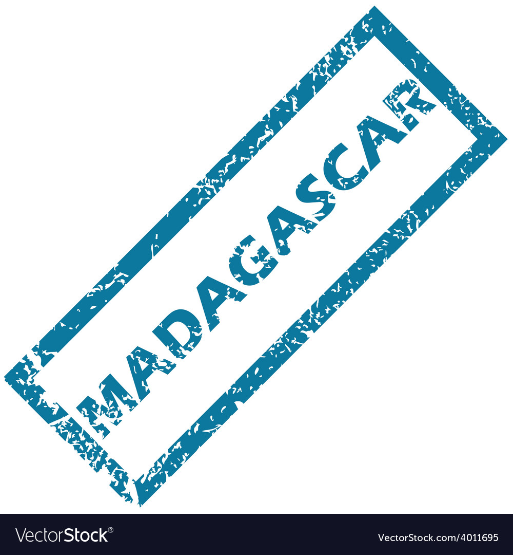 Madagascar rubber stamp vector | Price: 1 Credit (USD $1)