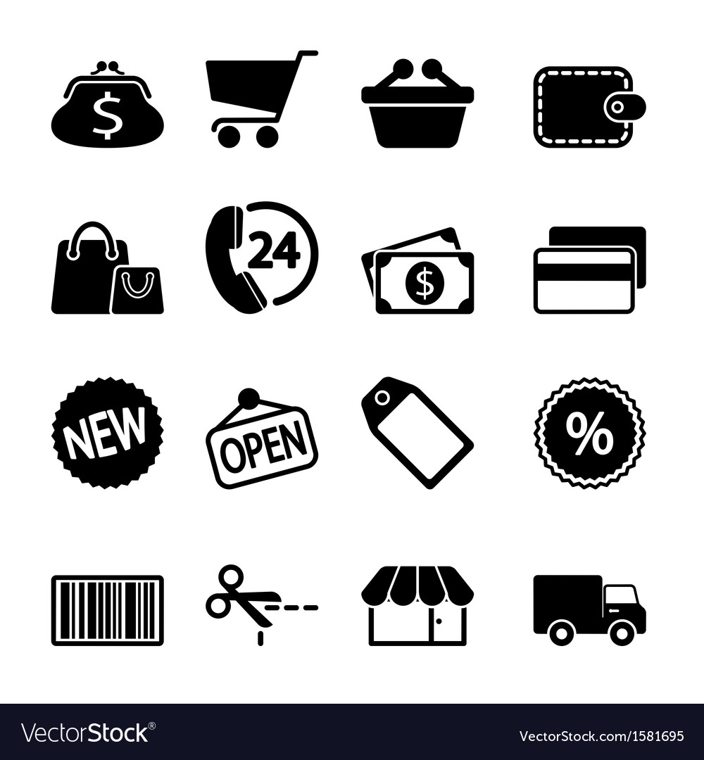 Market icons set vector | Price: 1 Credit (USD $1)