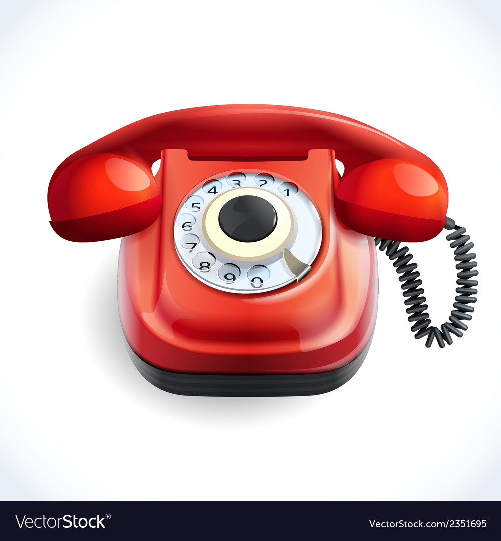 Retro style telephone color vector | Price: 1 Credit (USD $1)