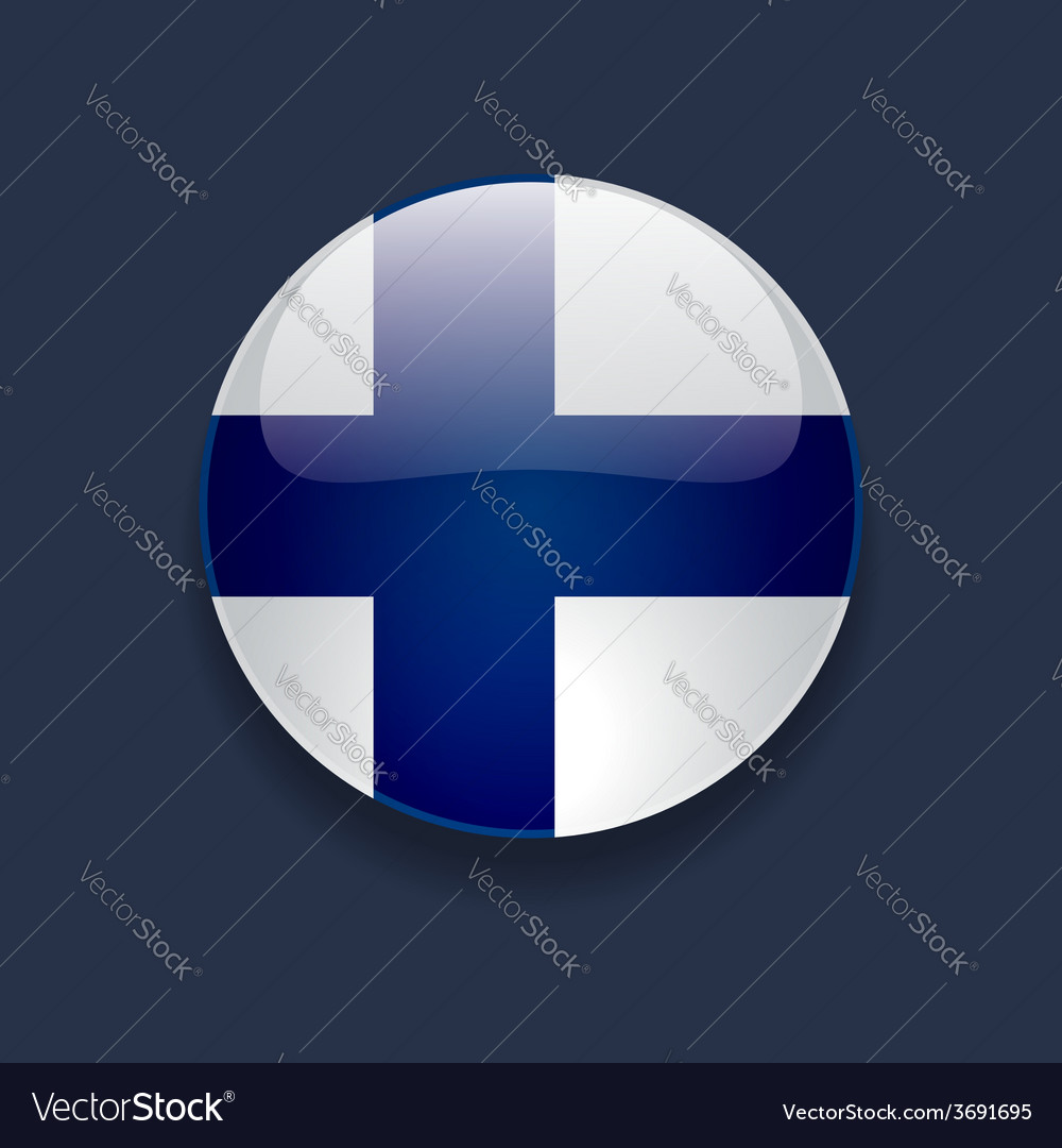 Round icon with flag of finland vector | Price: 1 Credit (USD $1)