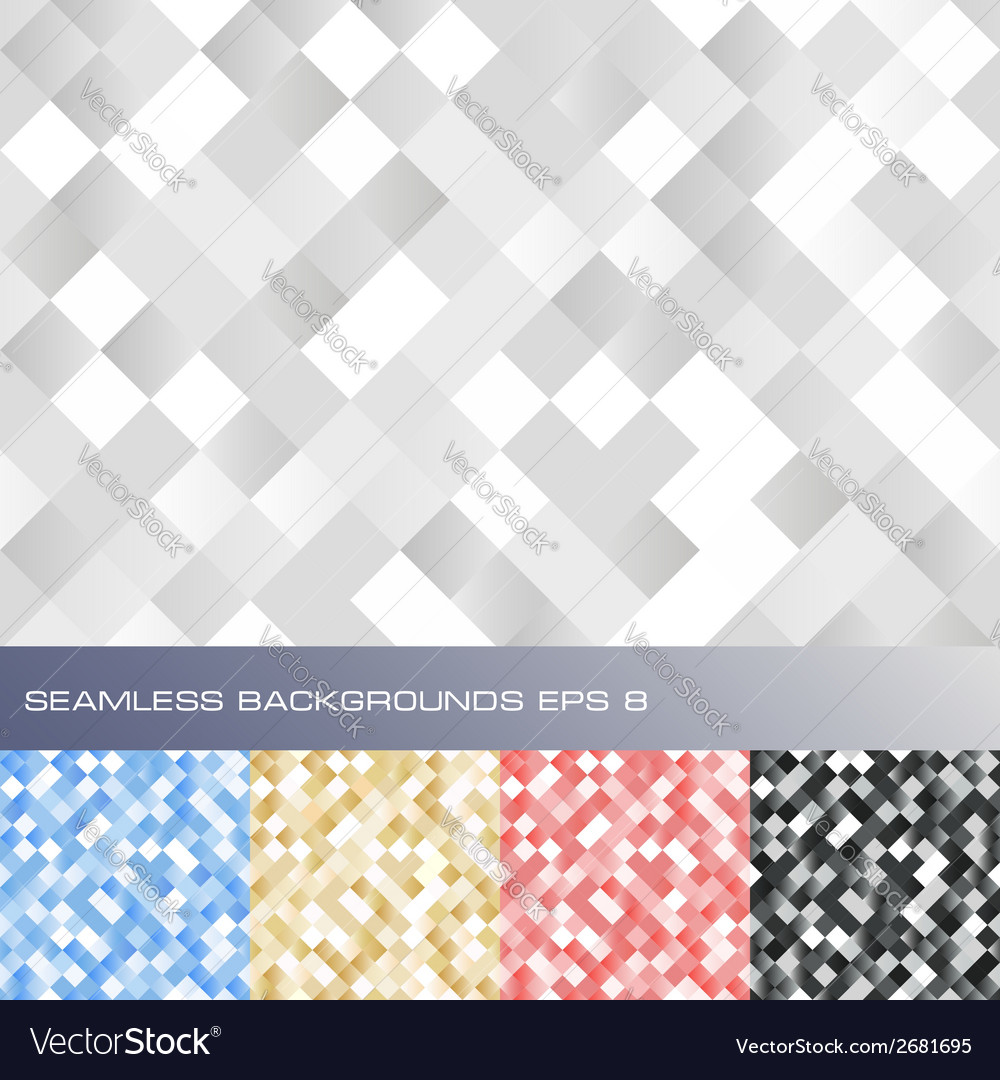 Set of seamless abstract backgrounds vector | Price: 1 Credit (USD $1)