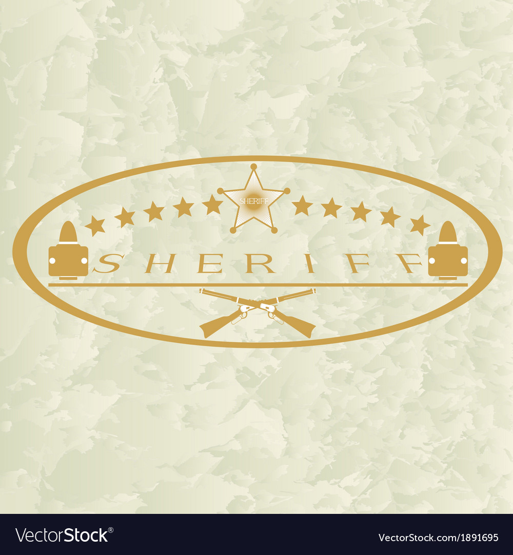 Sheriffs badge-6 vector | Price: 1 Credit (USD $1)