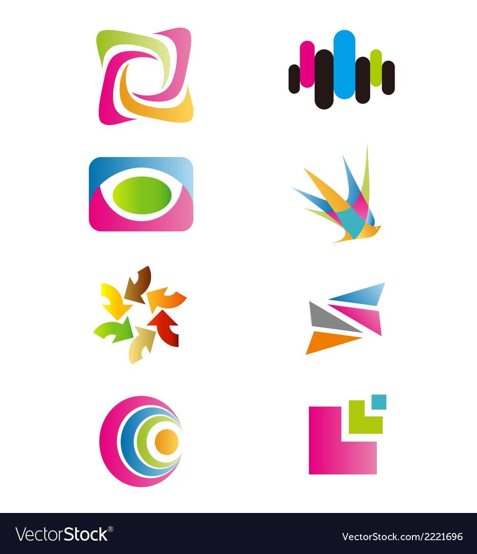 - logo colorfull set symbol vector | Price: 1 Credit (USD $1)