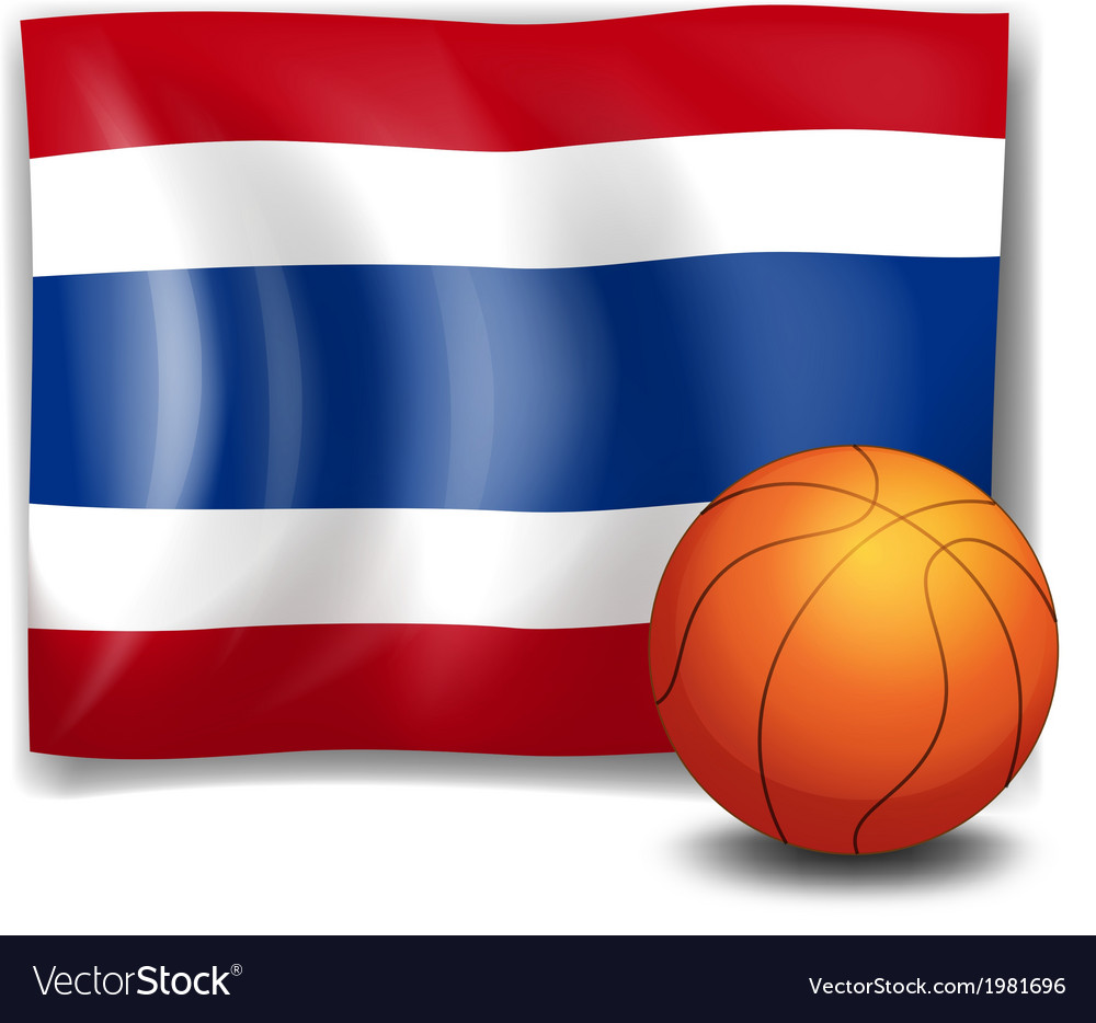 A ball in front of the flag of thailand vector | Price: 1 Credit (USD $1)