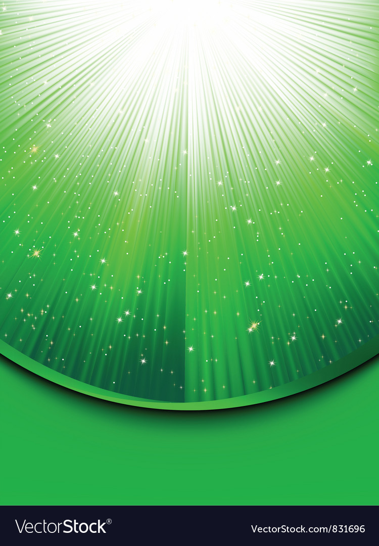 Abstract green stars background vector | Price: 1 Credit (USD $1)