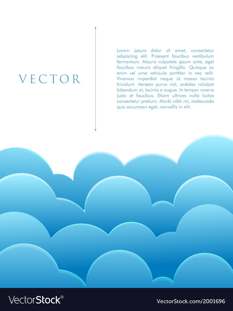 Blue abstract clouds vector | Price: 1 Credit (USD $1)